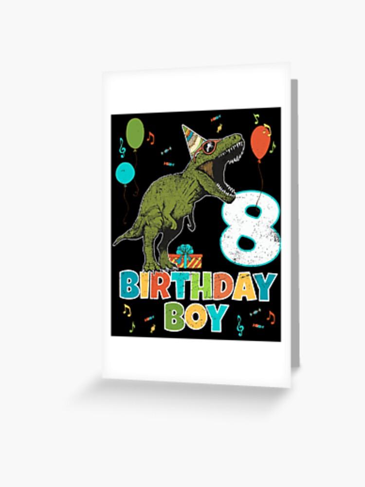 Birthday Card For 8 Year Old Boy : birthday, Birthday, Party, Dinosaur, Greeting, Blive, Redbubble