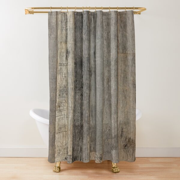 wood shower curtains redbubble