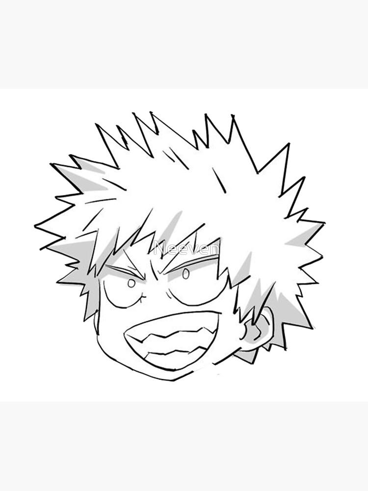 Easy Bakugou Drawing : bakugou, drawing, Bakugou