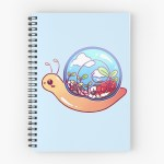 Cute Terrarium Snail Spiral Notebook By Heysoleilart Redbubble