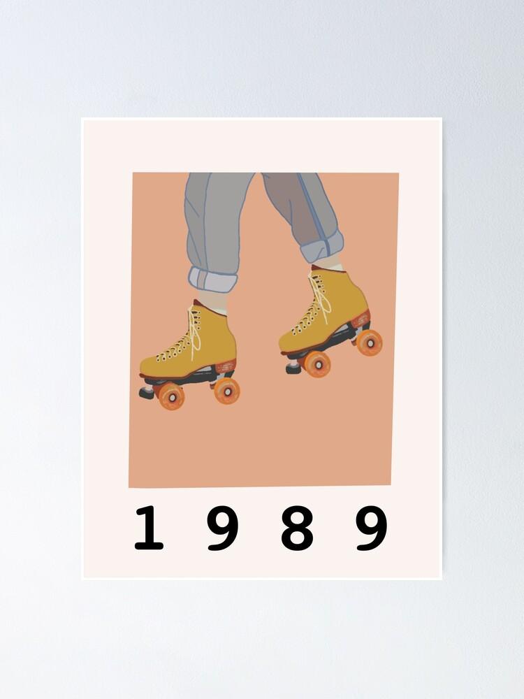 poster patins a roulettes vintage polaroid par emmatrott redbubble