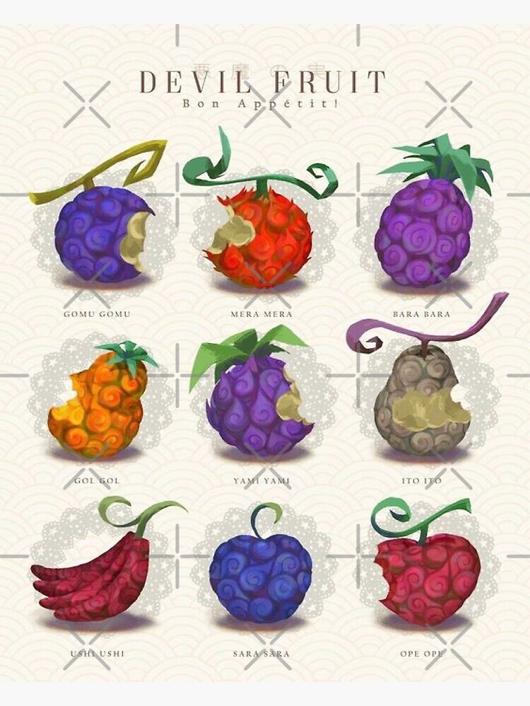 One Piece Fruit Du Démon : piece, fruit, démon, Fruits, Devil:, Appetite:, Postcard, NewDesignFR, Redbubble