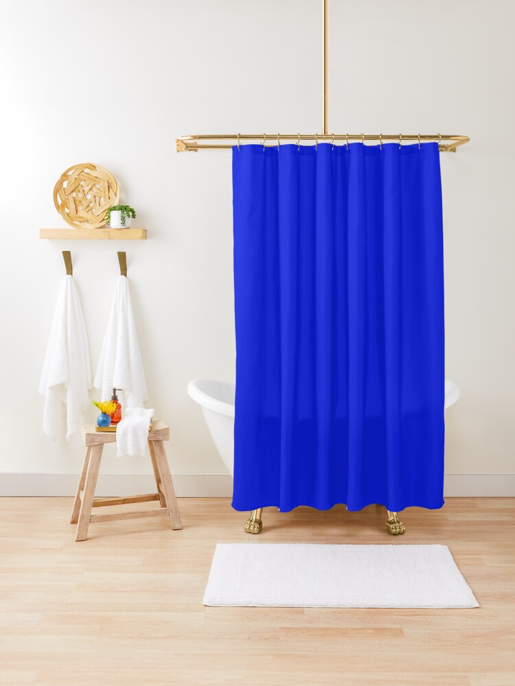 0c1fdd hex code web colors bright royal blue shower curtain by creativec71 redbubble