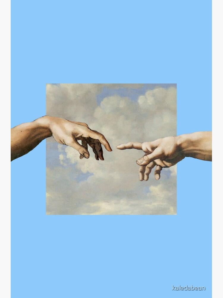 Hands Almost Touching Painting : hands, almost, touching, painting, Hands, Michelangelo, Aesthetic, Phone, Clouds, Painting