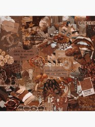 brown aesthetic Art Board Print by mekmonty Redbubble