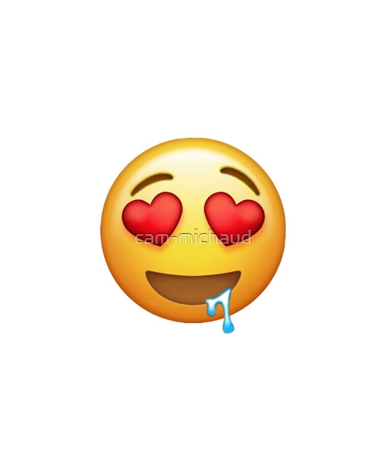 Transparent Heart Eyes Emoji : transparent, heart, emoji, Heart, Drool, Emoji
