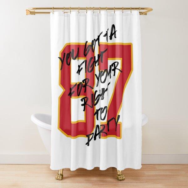 kansas city chiefs shower curtains redbubble