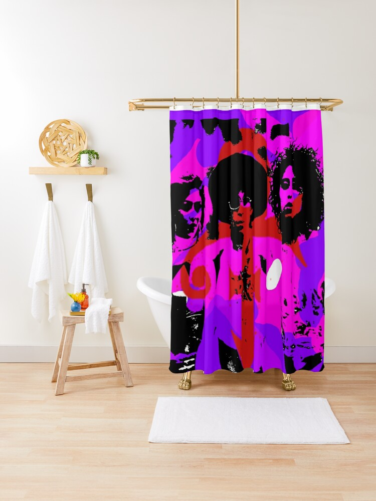 prince is the revolution shower curtain by xoautomatico redbubble