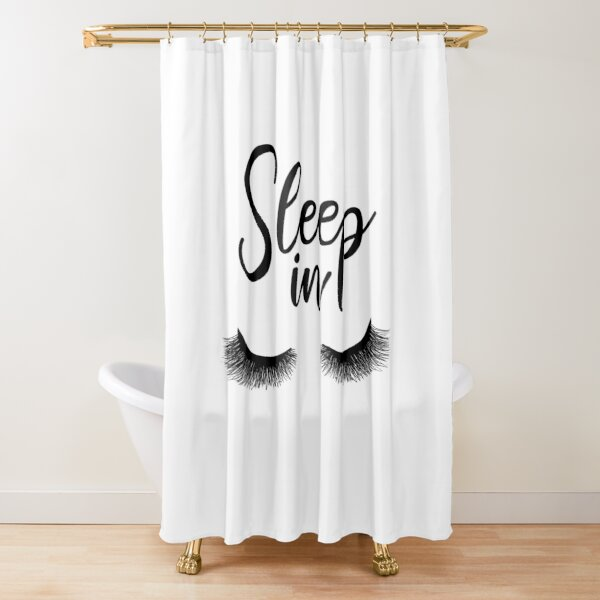 glam makeup shower curtain by alexvoss redbubble