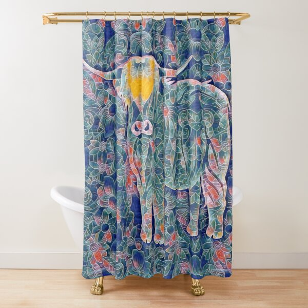 pretty highland cow shower curtains redbubble