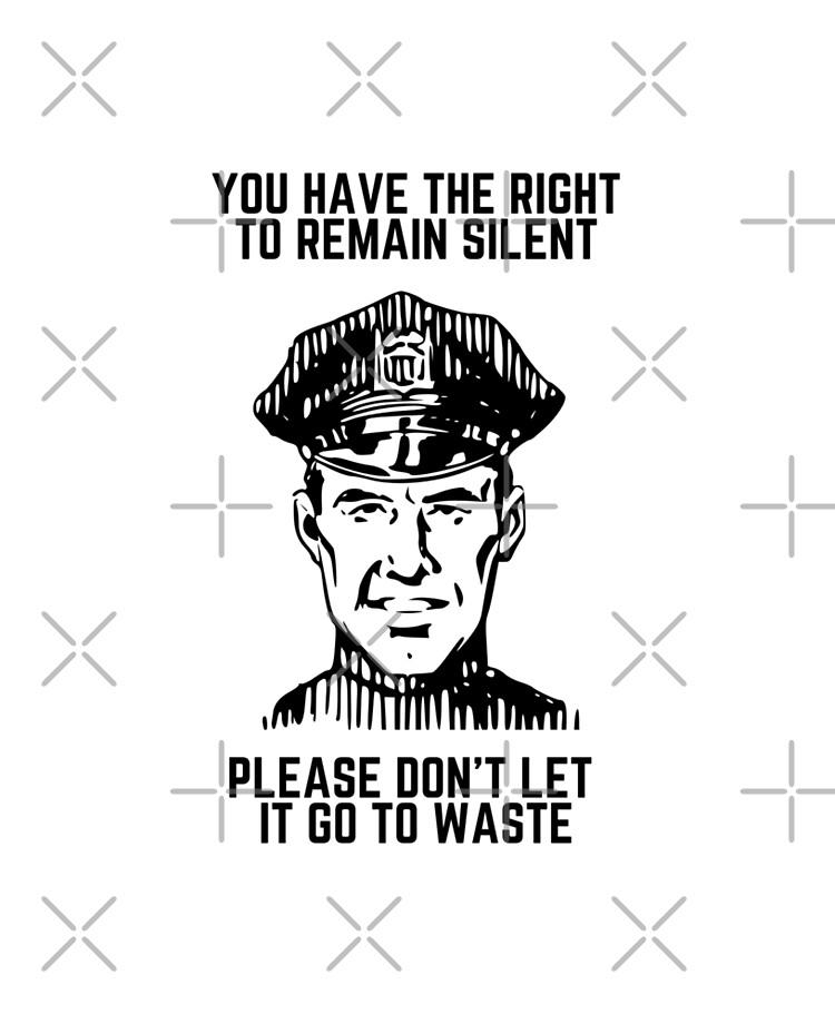Vous Avez Le Droit De Garder Le Silence : droit, garder, silence, Coque, Adhésive, Droit, Garder, Silence, Kingroy, Redbubble