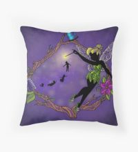 Silhouette Tinkerbell: Throw Pillows | Redbubble