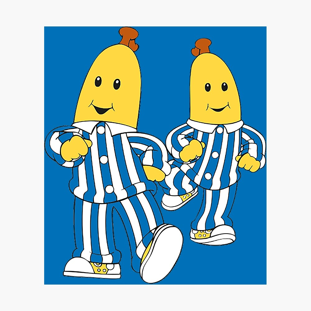 Silly Bananas Pyjamas They Are Coming Down Cute Australian Nostalgic Kids Gift Classic Australia Poster By Happygiftideas Redbubble