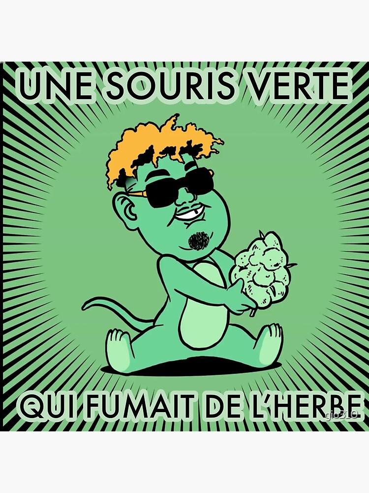 Naza Une Souris Verte : souris, verte, Impression, Rigide, Souris, Verte, Fumait, L'herbe, Gio310, Redbubble