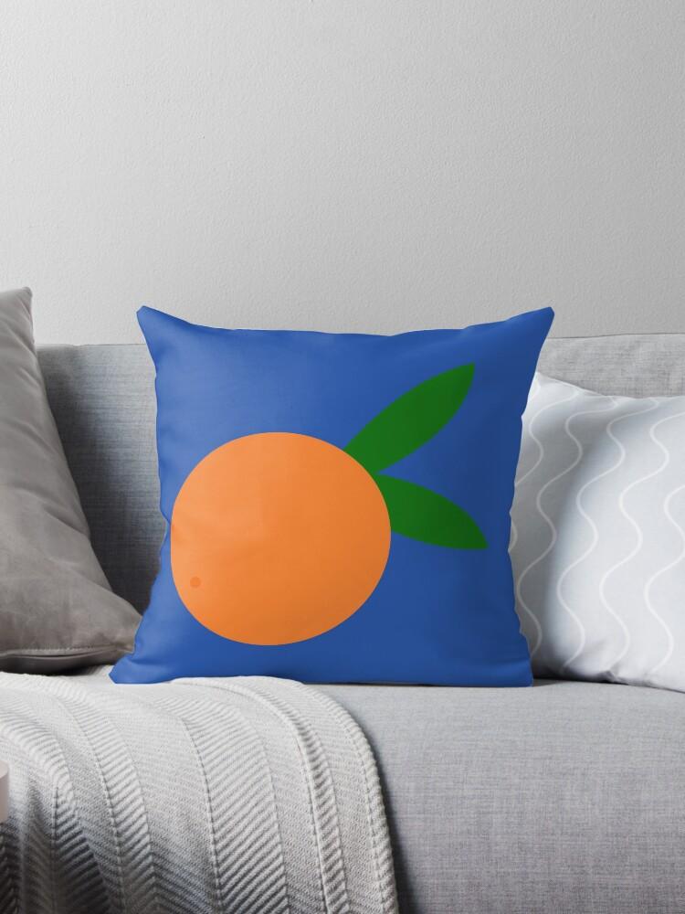 round orange throw pillow by lianf99 redbubble
