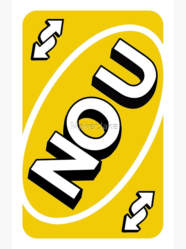 Uno No U : Yellow, Reverse, Card