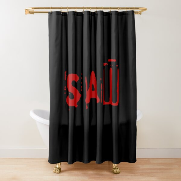 spiral from the book of saw horror movie shower curtain by allthingshorror redbubble