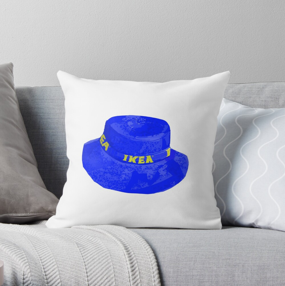 ikea bucket hat for the indie kids throw pillow by thepaisleyswan redbubble