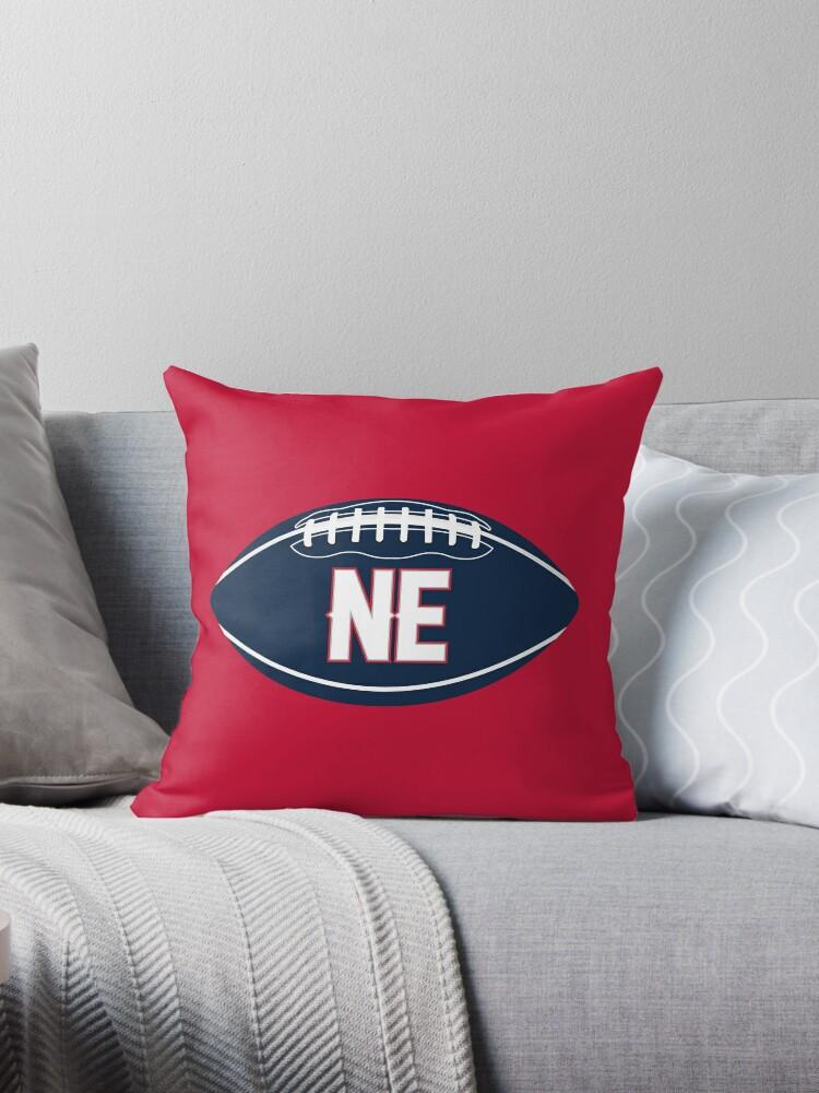 new england patriots football design throw pillow by sportology redbubble