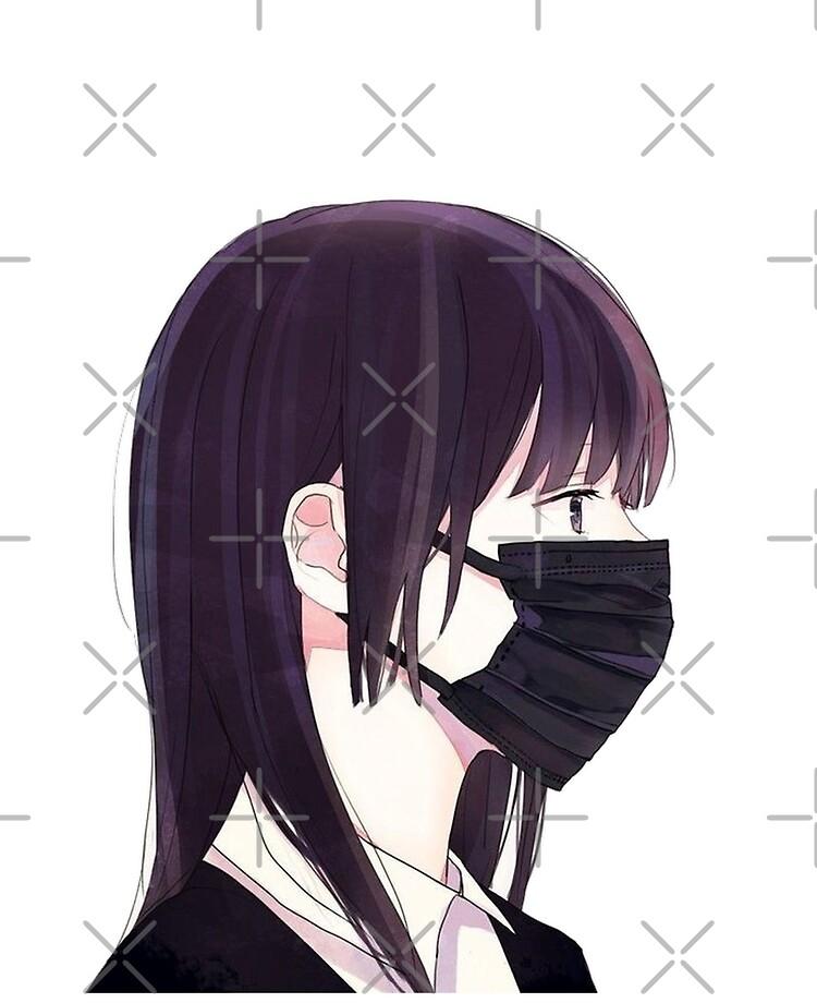 Anime Girl Mask : anime, Anime, Coronavirus, Shining-art, Redbubble