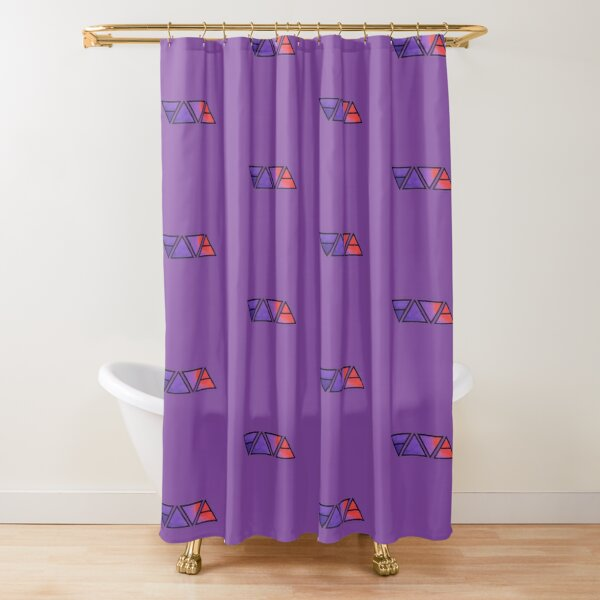 red space age shower curtains redbubble