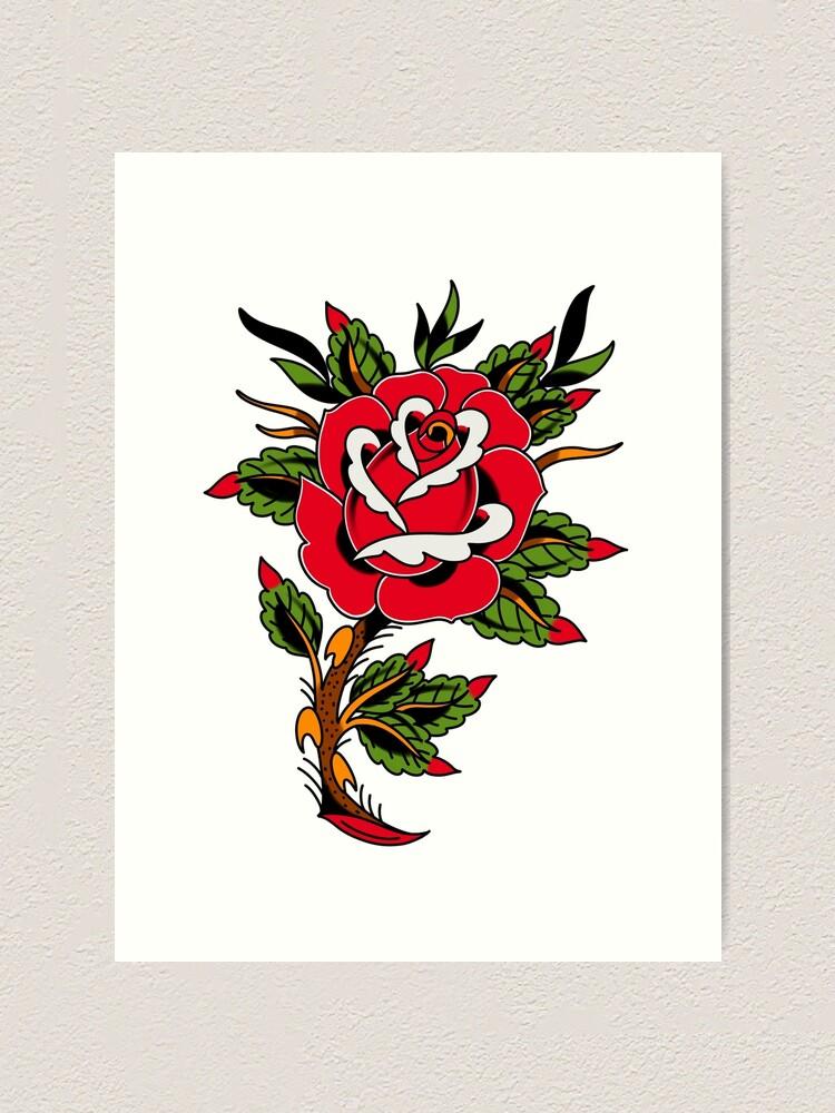Classic Rose Tattoo : classic, tattoo, Classic, Tattoo