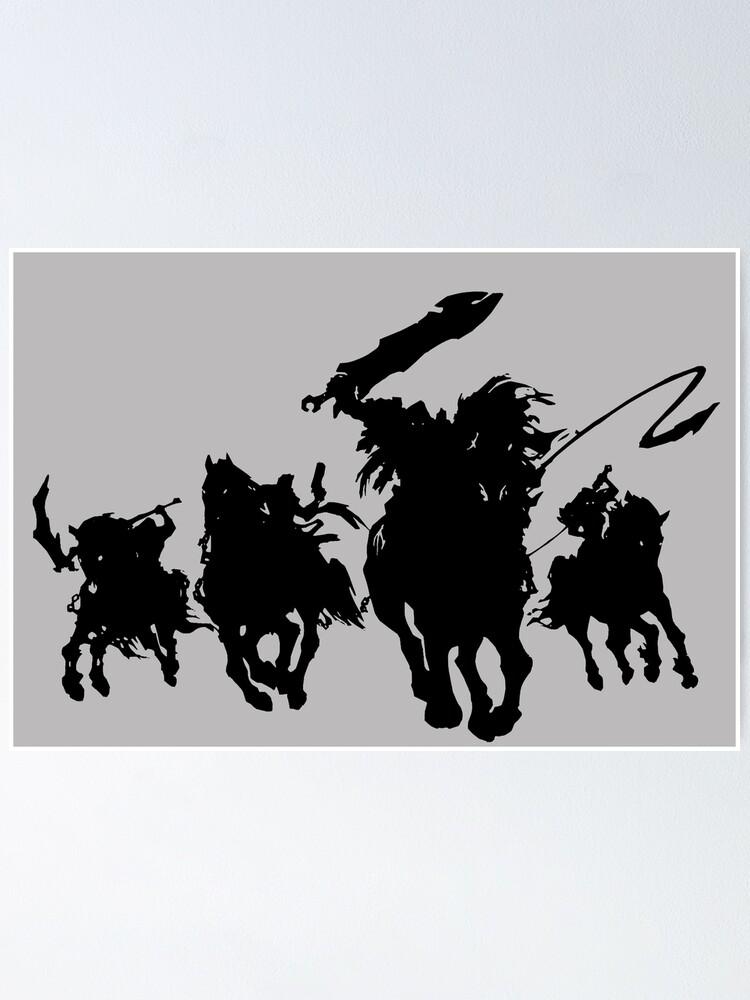 4 Cavaliers De L'apocalypse Darksiders : cavaliers, l'apocalypse, darksiders, Poster, Darksiders:, Cavaliers, L'apocalypse, LittleSmarthy, Redbubble