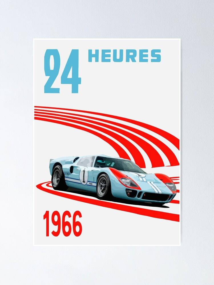 Ford Gt Poster : poster, Miles, Hours, Ferrari