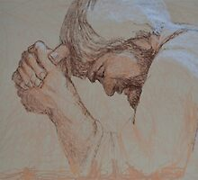 Jesus Praying - A prifile image of Jesus Christ