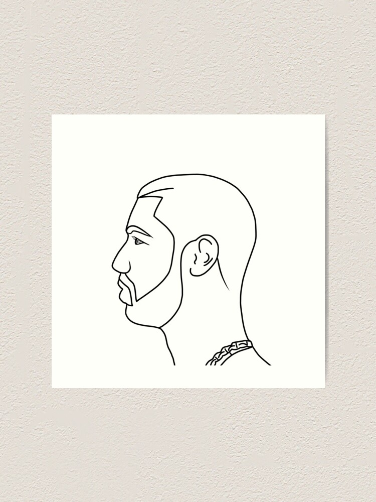Drake Drawing Easy : drake, drawing, Drake, Drawing, Print, Rehap1098, Redbubble