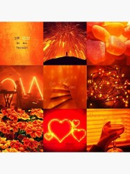 Orange aesthetic Greeting Card by bettystar Redbubble