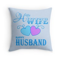 Wife and Husband: Throw Pillows | Redbubble