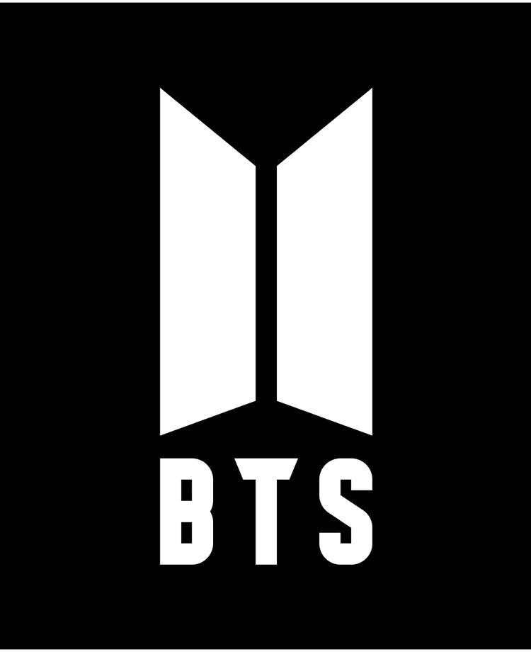 Bts Logo Black And White : black, white, White, Black