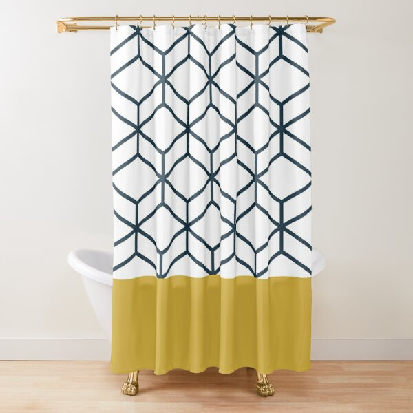 navy blue and tan shower curtain cheaper than retail price buy clothing accessories and lifestyle products for women men