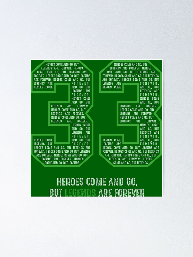 bird basketball larry legend boston 33 poster by crusarts redbubble