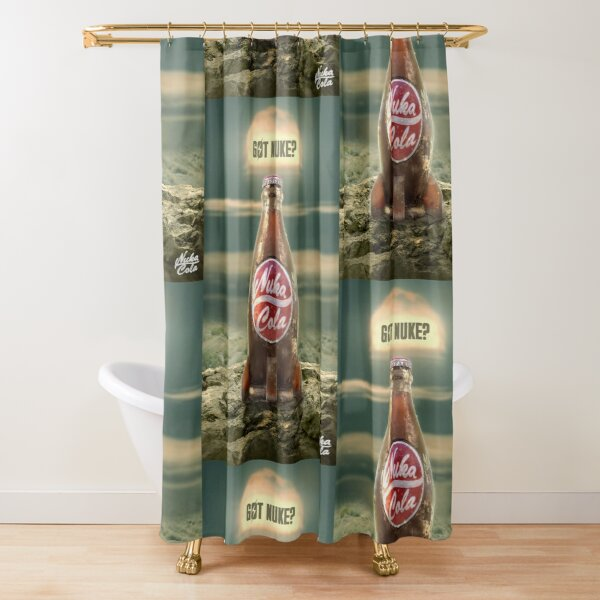 nuka cola ad shower curtains redbubble
