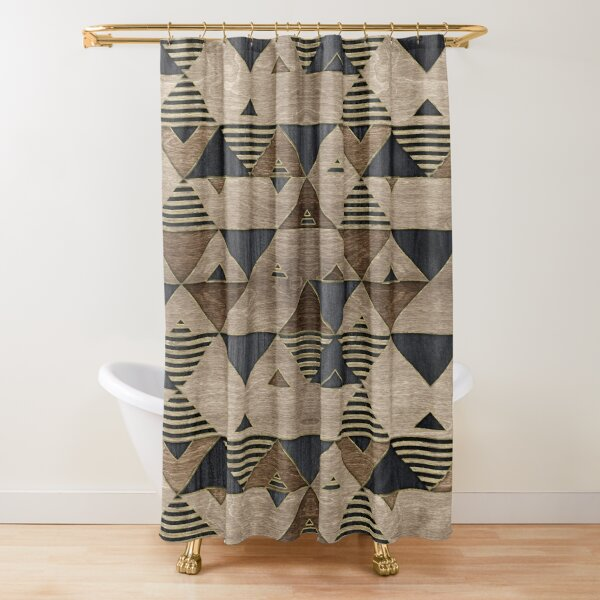 worn wood look shower curtains redbubble