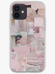 Soft Pink Aesthetic Collage Instagram Mood Board Theme Wallpaper iPhone Case & Cover by jeonqz Redbubble