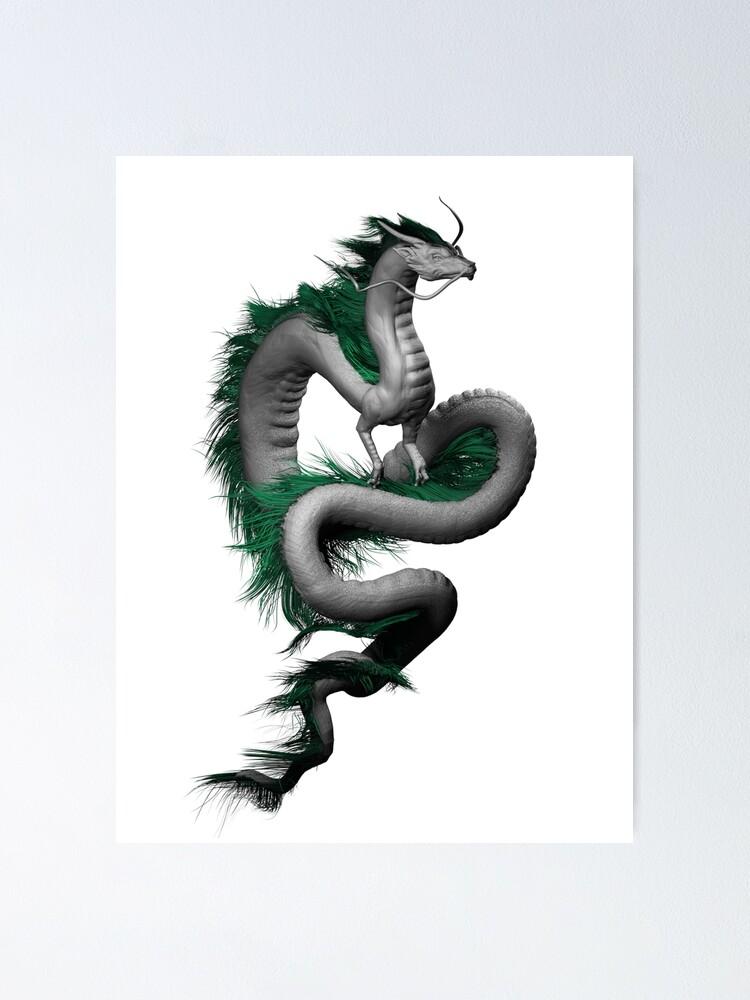 Dragon Side View : dragon, Dragon, Illustration, Anime