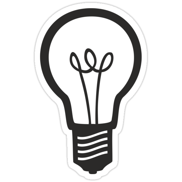 """""""simple Light Bulb"""" Stickers By Xooxoo  Redbubble"""