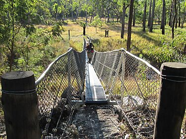 Hanging Bridge at West Branch camping ground