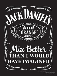 """jack daniels and orange juice - sticker"" Stickers by ..."