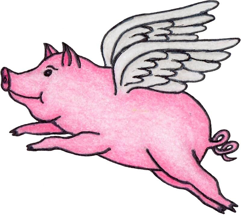 Cute Pigs Cartoon Wings