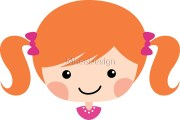 """cute cartoon girl with red hair"