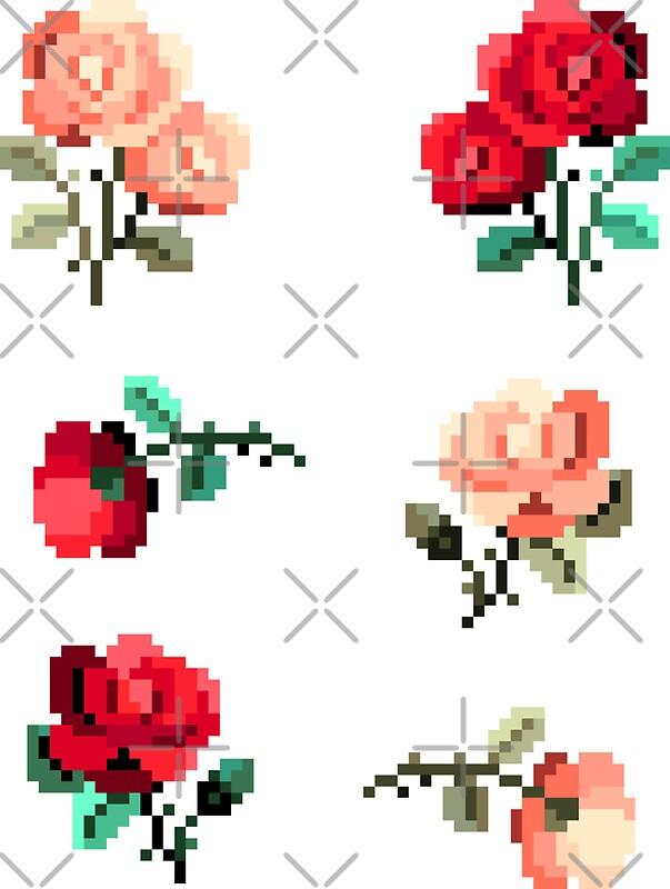Transparent Pixel Stickers