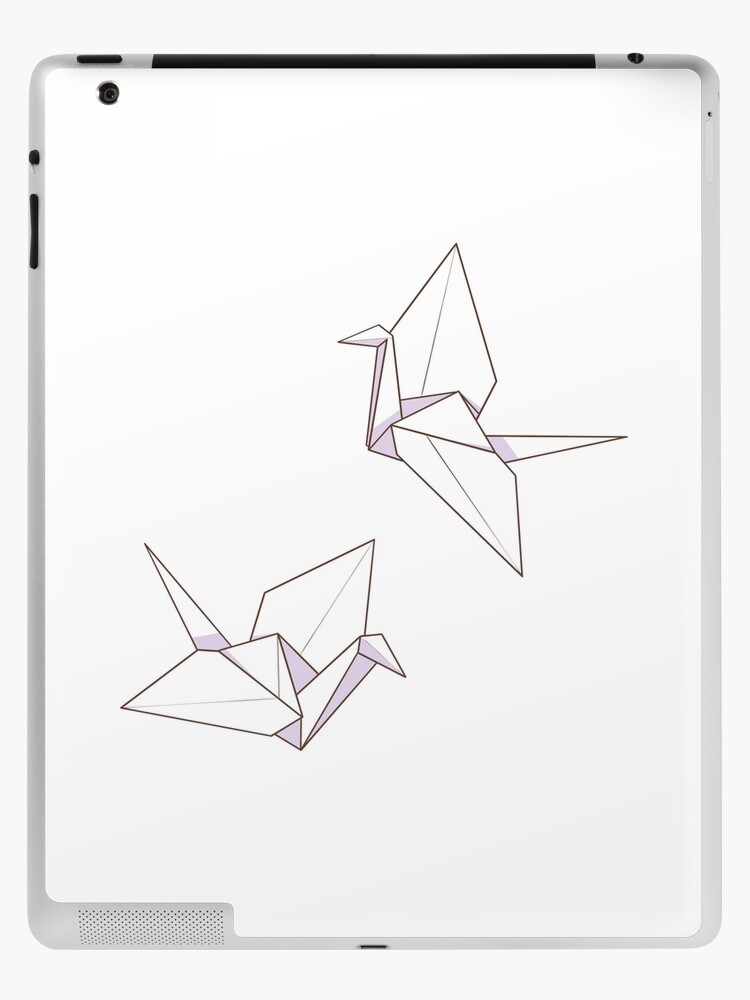 Aesthetic Origami Paper Crane Illustration Ipad Case Skin By Lxnamoon Redbubble