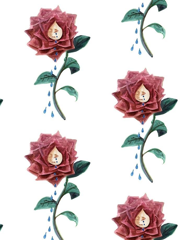 Fleurs Alice Au Pays Des Merveilles : fleurs, alice, merveilles, Coque, Adhésive, Fleur, Aventures, D'Alice, Merveilles, Johnerclerk, Redbubble
