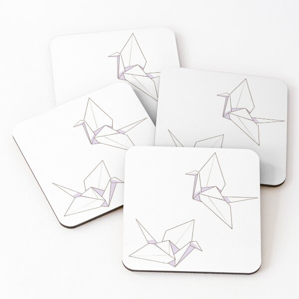 Minimalist And Aesthetic Origami Paper Plane Coasters Set Of 4 By Lxnamoon Redbubble