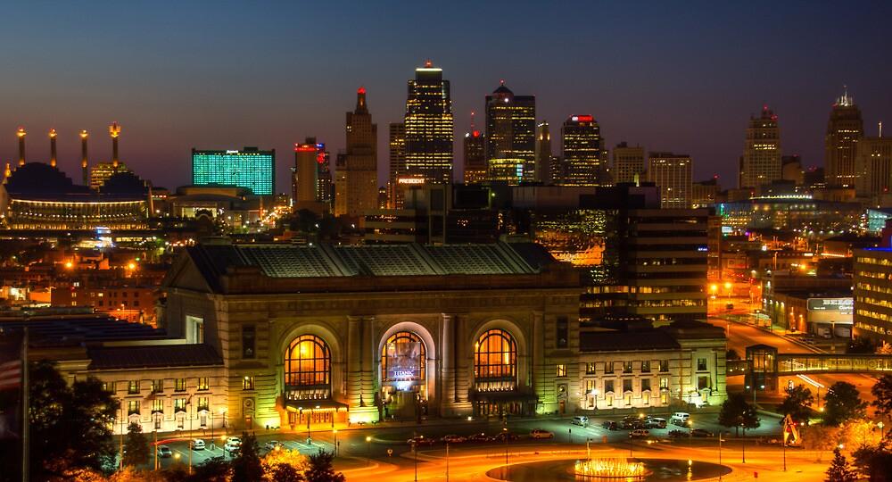 Kansas City night skyline by Jair65  Redbubble