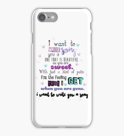 Song Lyrics: iPhone Cases & Skins for 7/7 Plus, SE, 6S/6S